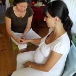 Reflexní terapie ruky pro těhotné.