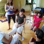 Reflexní terapie nohy pro těhotné.
